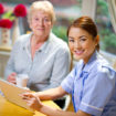 community nurse make a house call to senior