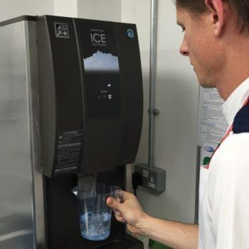 A Hoshizaki ice dispenser at Whipps Cross