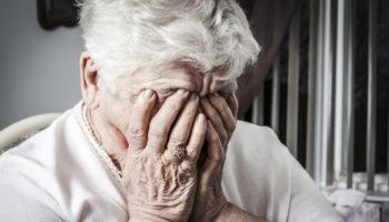 elderly depressed woman