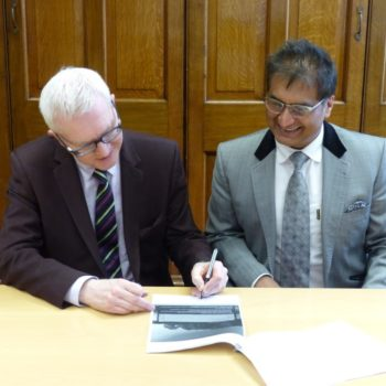 NTW Chief Executive John Lawlor with Malhotra Group PLC chairman Meenu Malhotra 3
