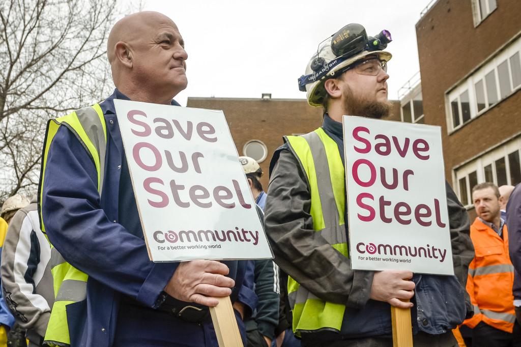 Business Secretary Sajid Javid Attends Crisis Talks At TATA Steel Plant