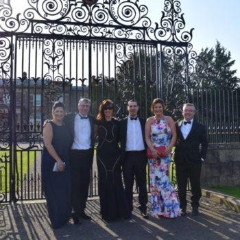 At the gates of Hillsborough Castle RCN Awards Runwood Team