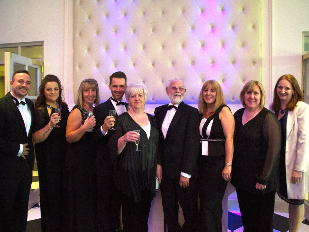 The Hastings Court team with resident Fred Day centre right