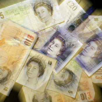 British Sterling pound notes are picture