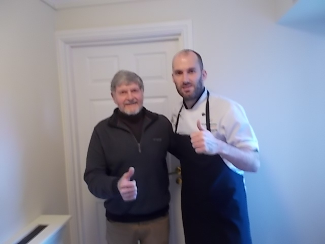 Chef Mark and resident David
