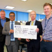 L-R Professor David Deehan Meenu Malhotra Professor Sir Doug Turnbull and Dr Daniel Hipps
