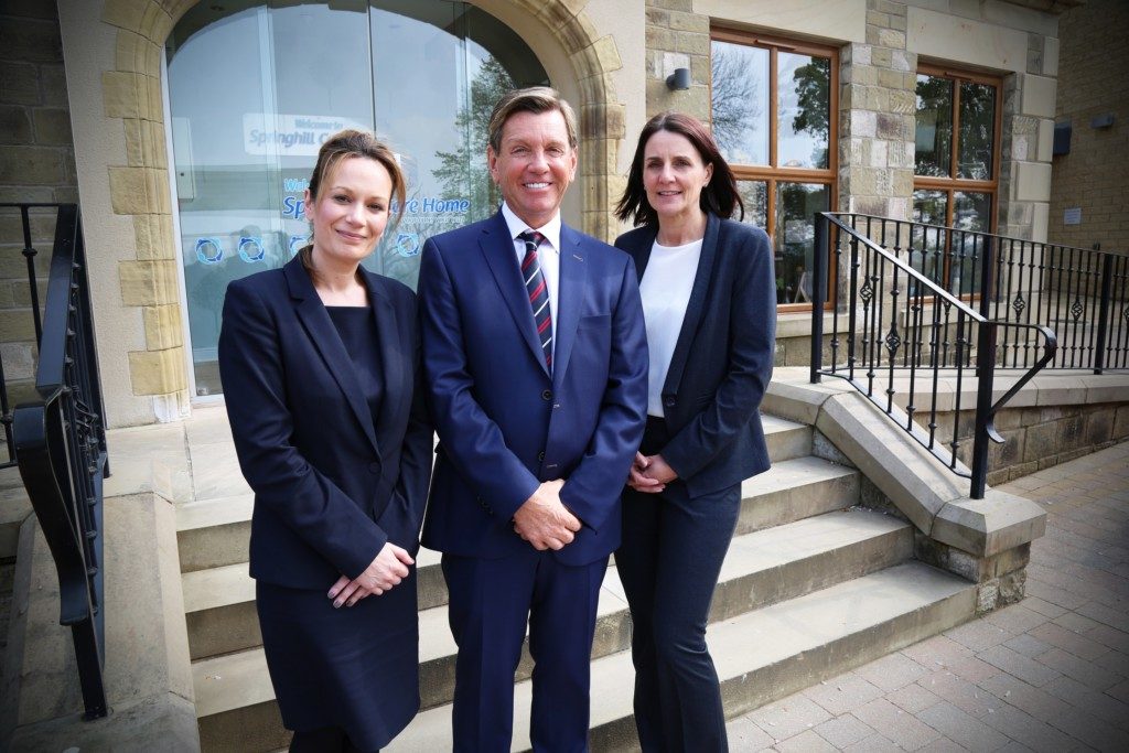 L-R Virginia Perkins Ken Nolan (chairman) and Donna Brigg managing director of Springhill Care Group (2)