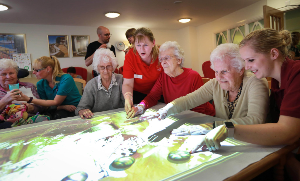 'Magic table' innovation launches at Dorset dementia care home