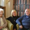 Paula Howlett centre with residents Emily and Jim