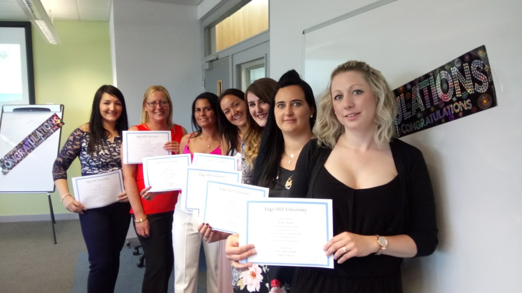 Healthcare Assistants from Warrington celebrate their success
