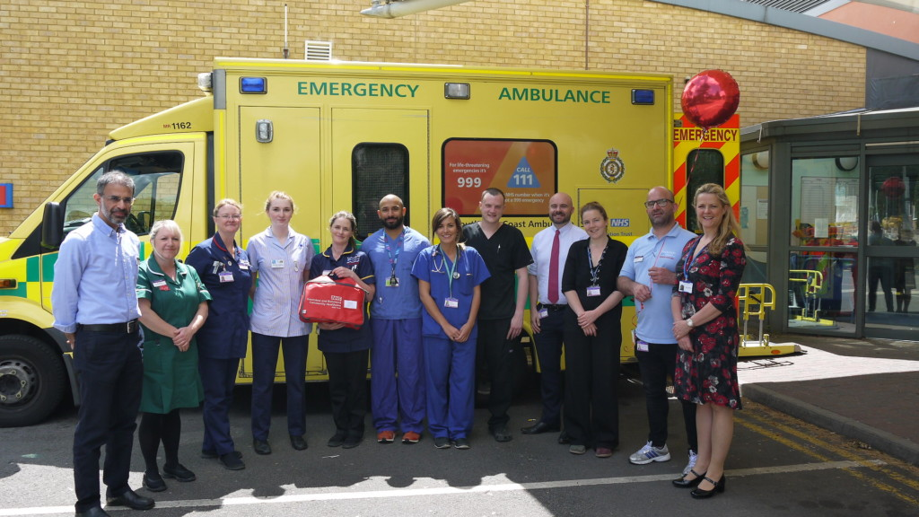 Red bag scheme launch at Kingston Hosptial emergency dept