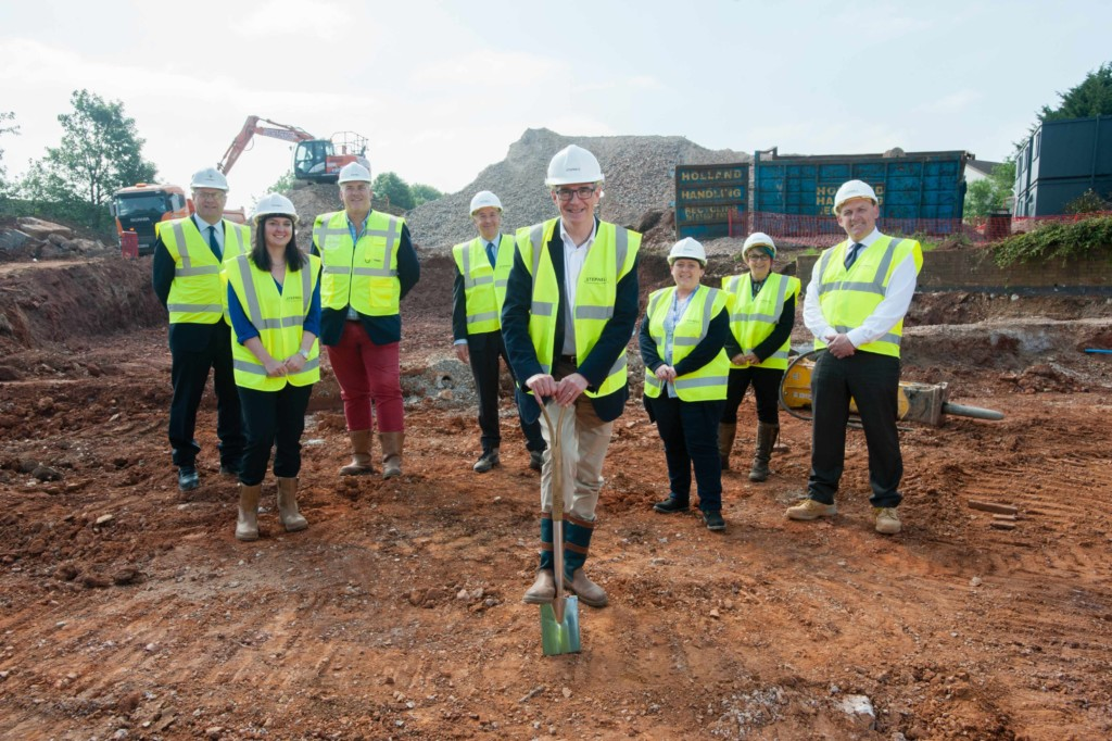 Cadbury Heath carehome groundbreaking