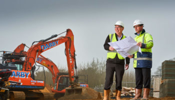 Justin Daley project manager for Care UK and Nick Barnes construction director at Jenner Contractors_