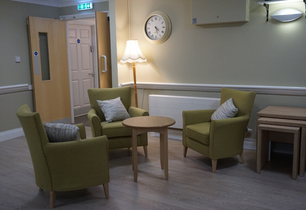 refurbished coffee shop at MHA Maple Leaf House care home, Ripley, Derbyshire