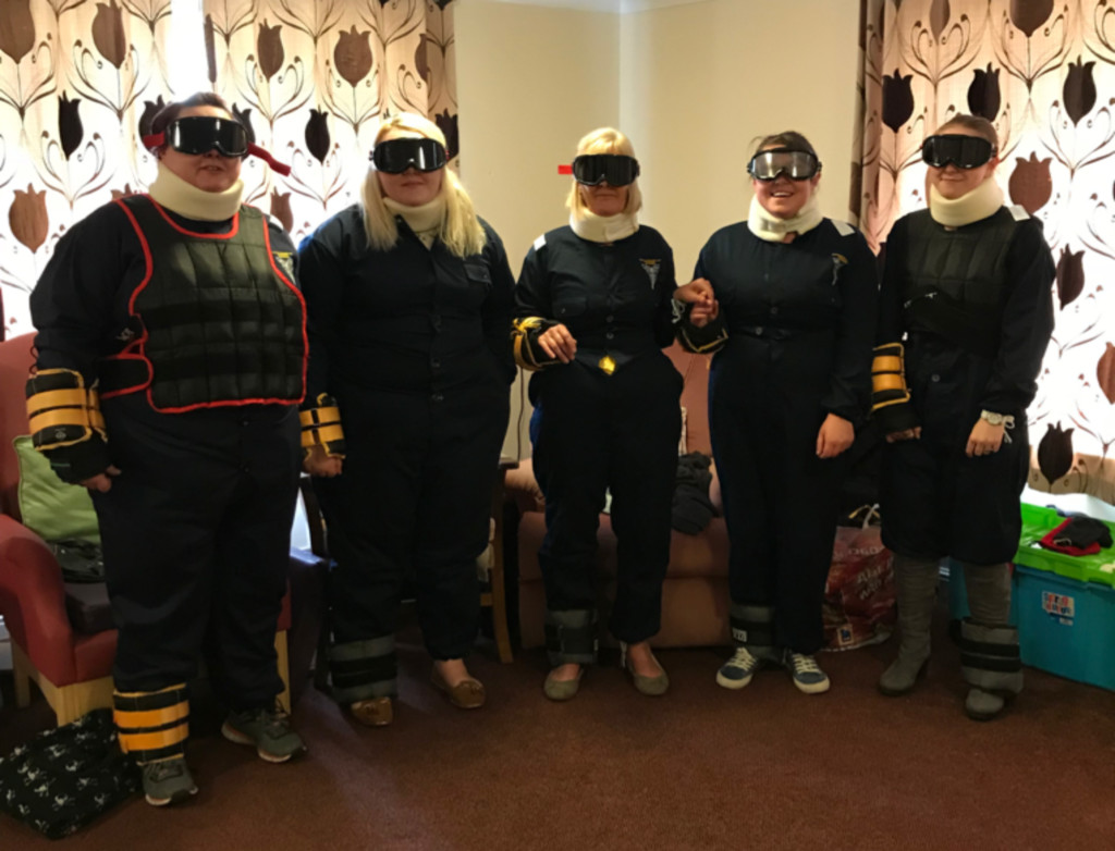 Participants taking part in the Dementia Champions Suits training