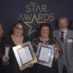 (1) Zarah Conway (Shaw healthcare) award winners Caroline Carter and Angie Douglass Ken Rawlins and Jamie Griggs (Pensworth Dairies)