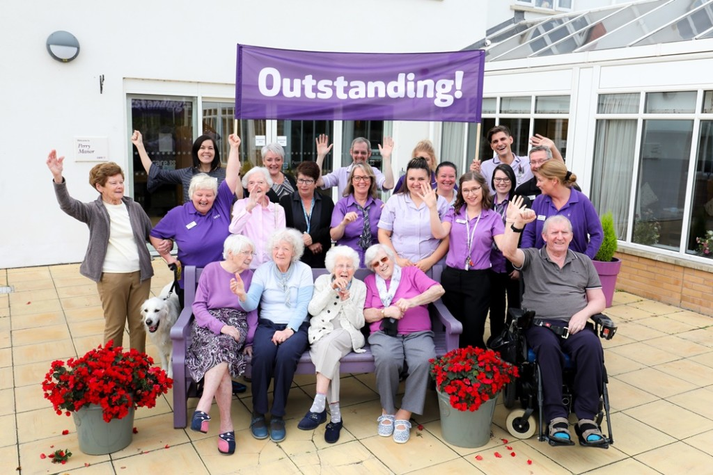 Perry Manor Care Home celebrates Outstanding LR