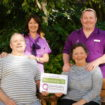 Pic1 – Outstanding care home – Birkenhead Court residents Manager Mary Hardy and carer