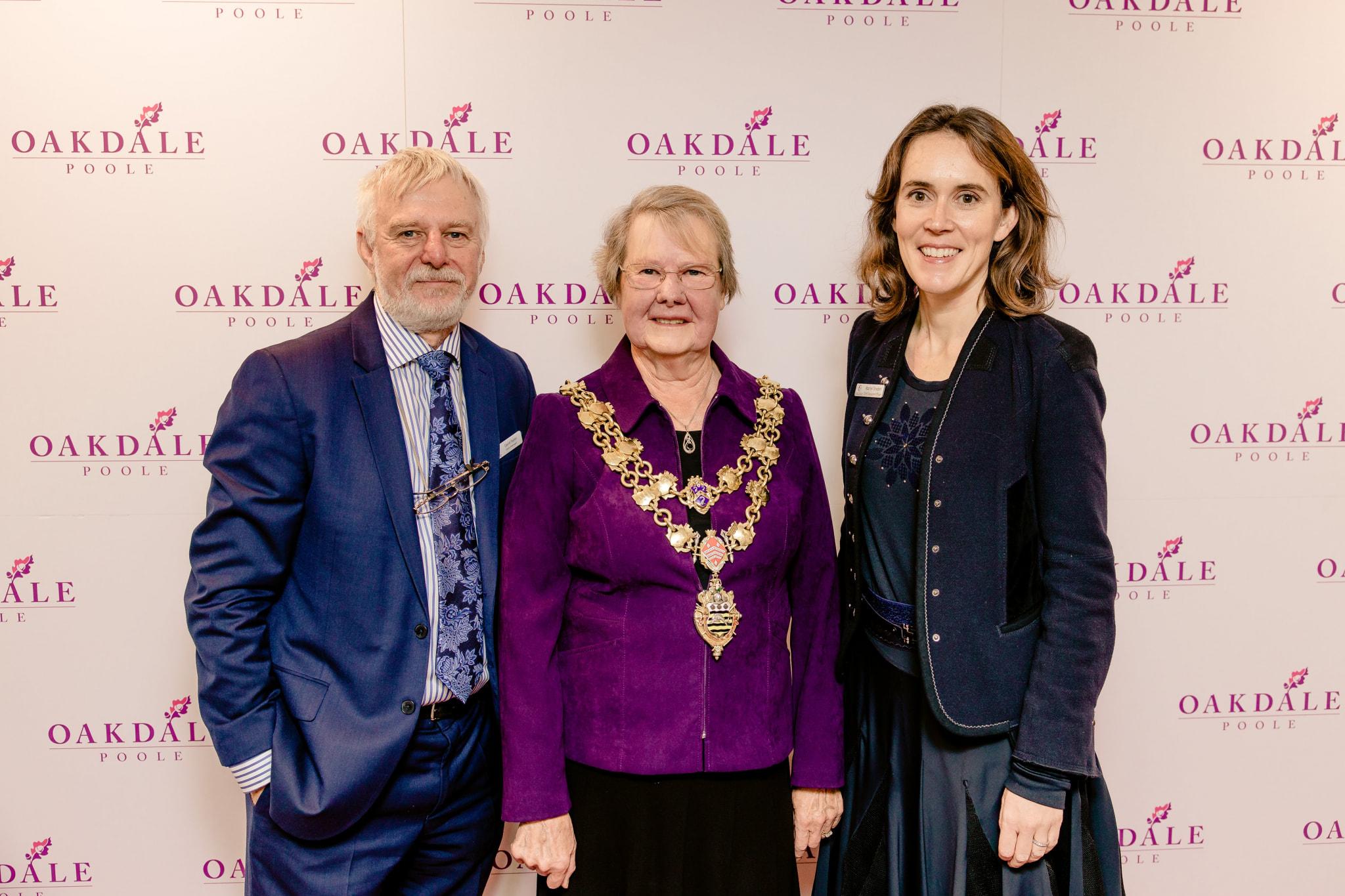 David Taylor (Oakdale), Mayor of Poole and Rachel Dryden (CEO of Encore) (2)