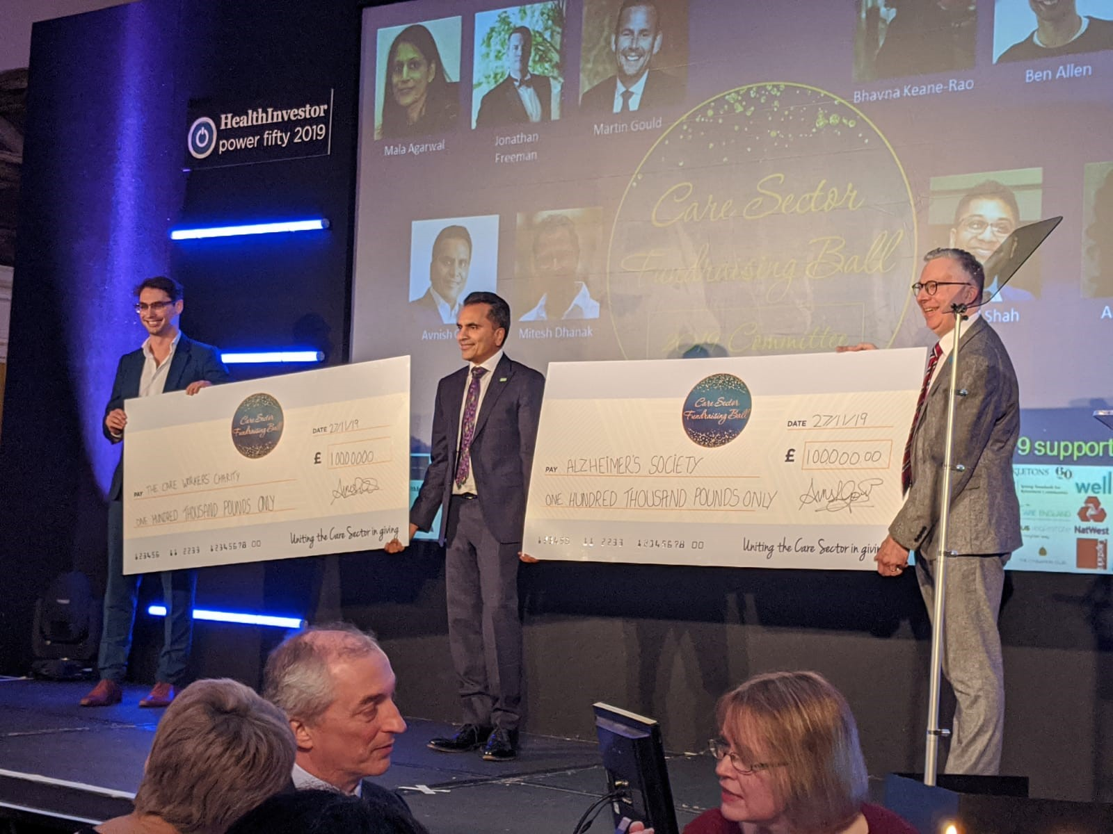 Avnish Goyal awards funds from 2019 ball to CWC and Alzheimers Soc