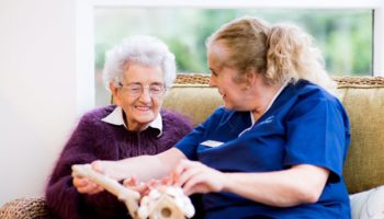 Balhousie Care Group staffer and resident