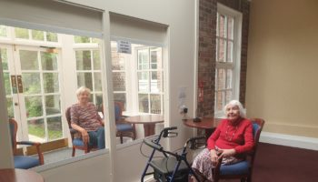 One of the visitor pods at Middleton Hall Retirement Village
