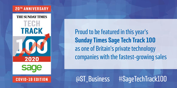 Person Centred Software has been ranked at No. 46 in the Sunday Times Sage Tech Track 100