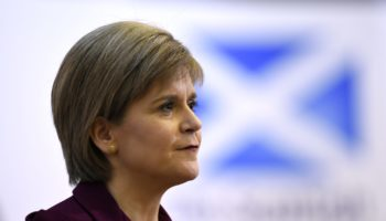 Nicola Sturgeon Delivers Anti-Austerity Speech At Universtiy College London