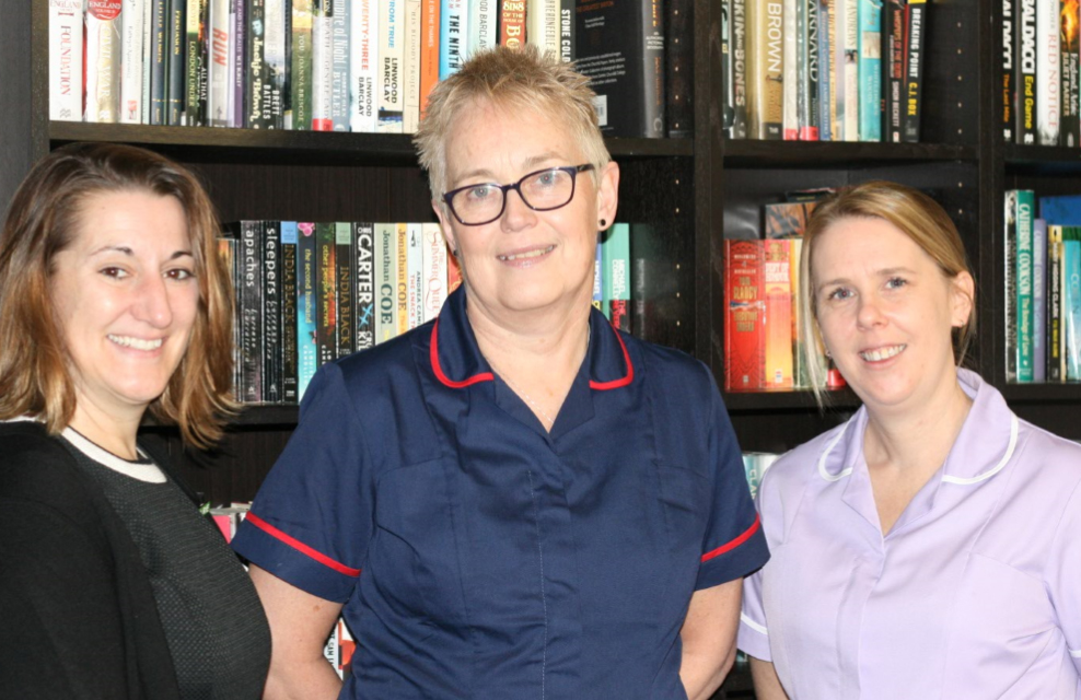 Valerie Manor's Zoe Fry, Debs Goodman and Lucy Knight
