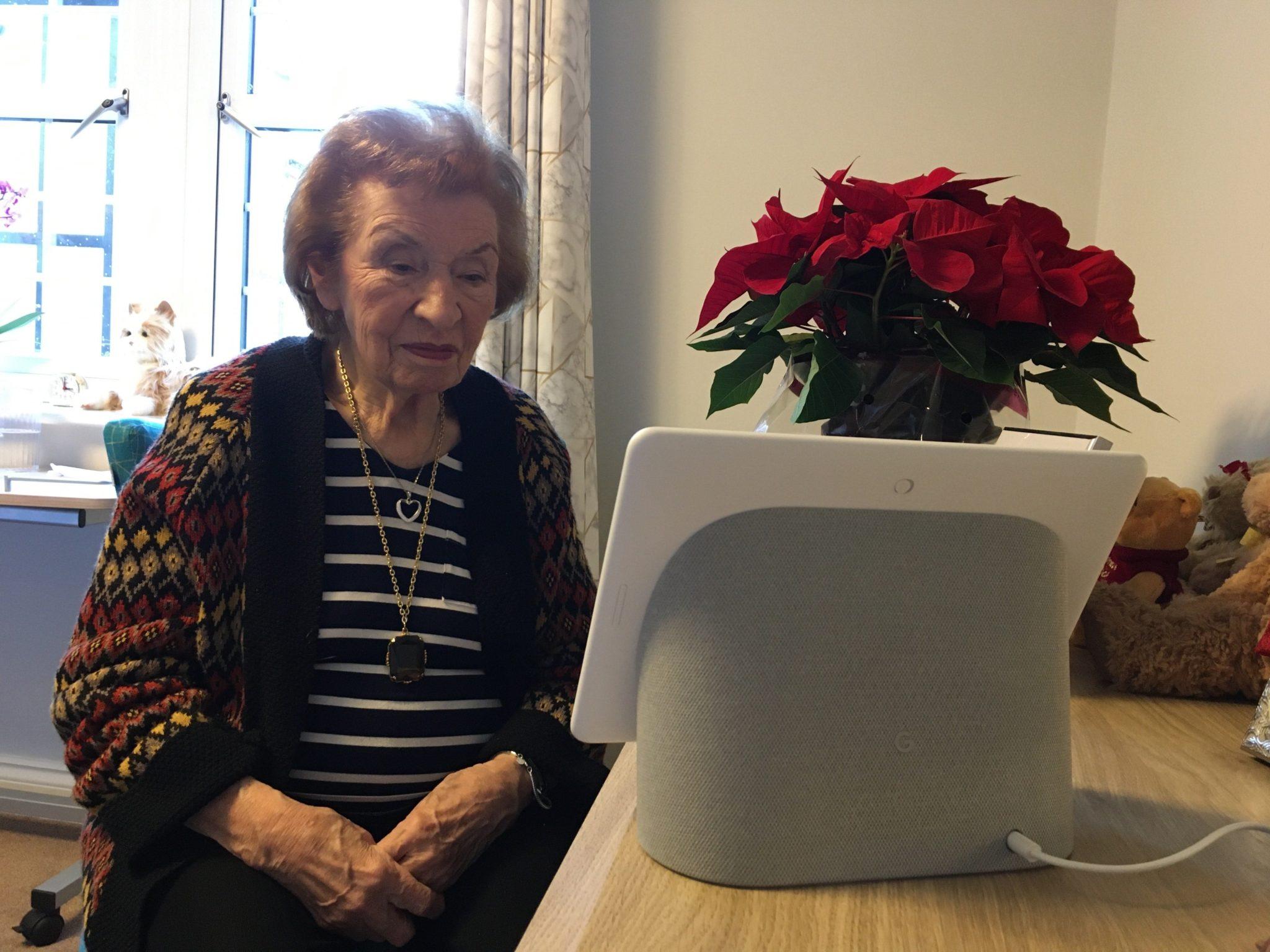 Winnie using her Google Nest-min