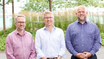 The Sandstone Care Group directors Richard Shore, Ben Challinor and James Parkin (LR)