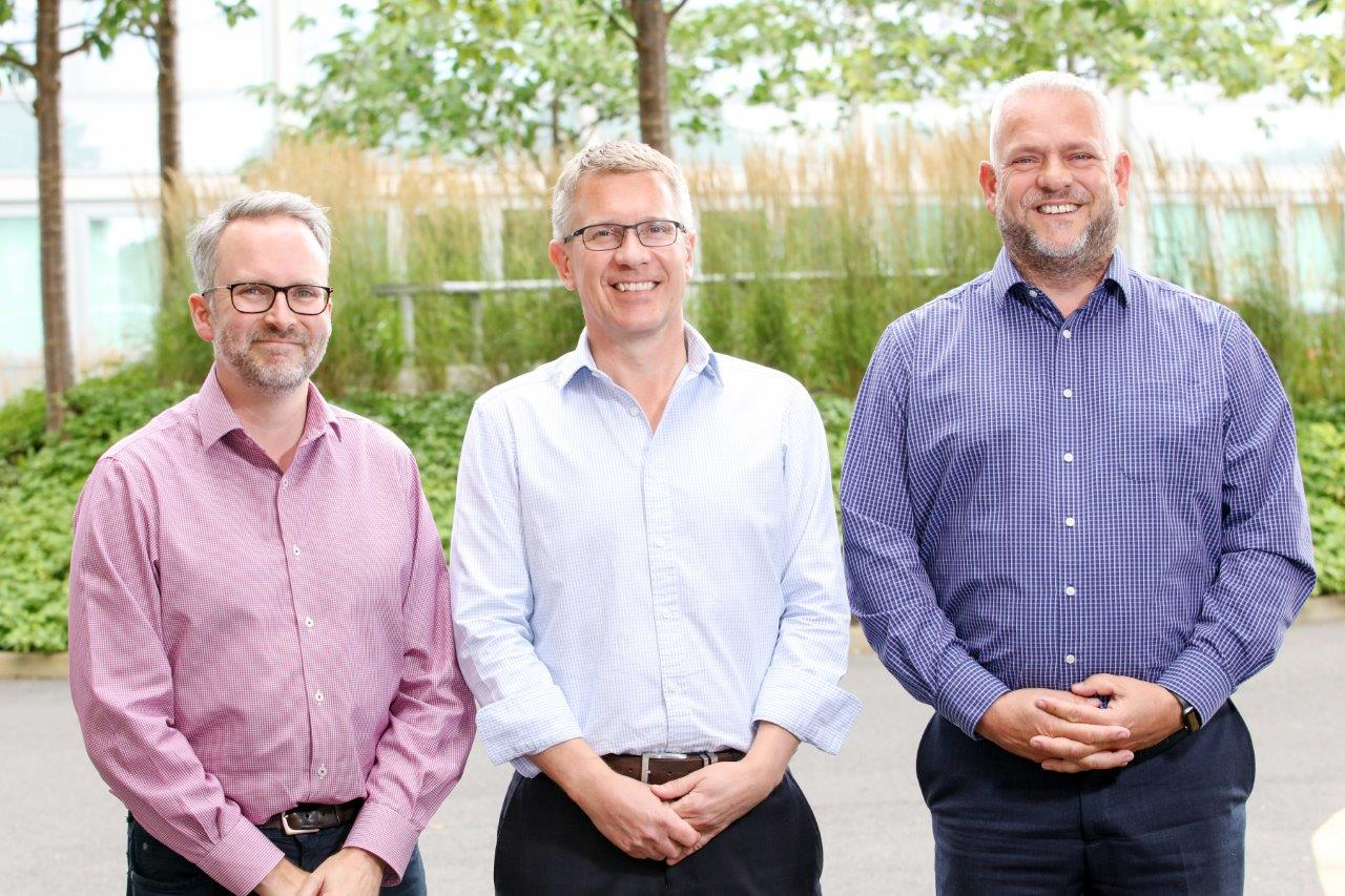 The Sandstone Care Group directors Richard Shore, Ben Challinor and James Parkin (LR)