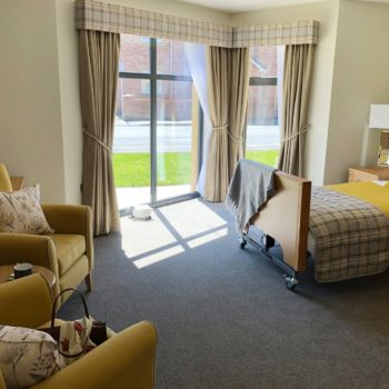A bedroom in Ribble Court Care Home