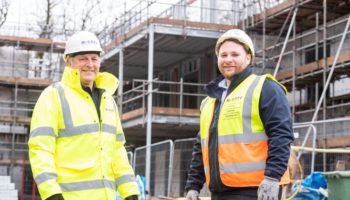 McGoff Construction's Stan Houghton left with Aidan Oaks right