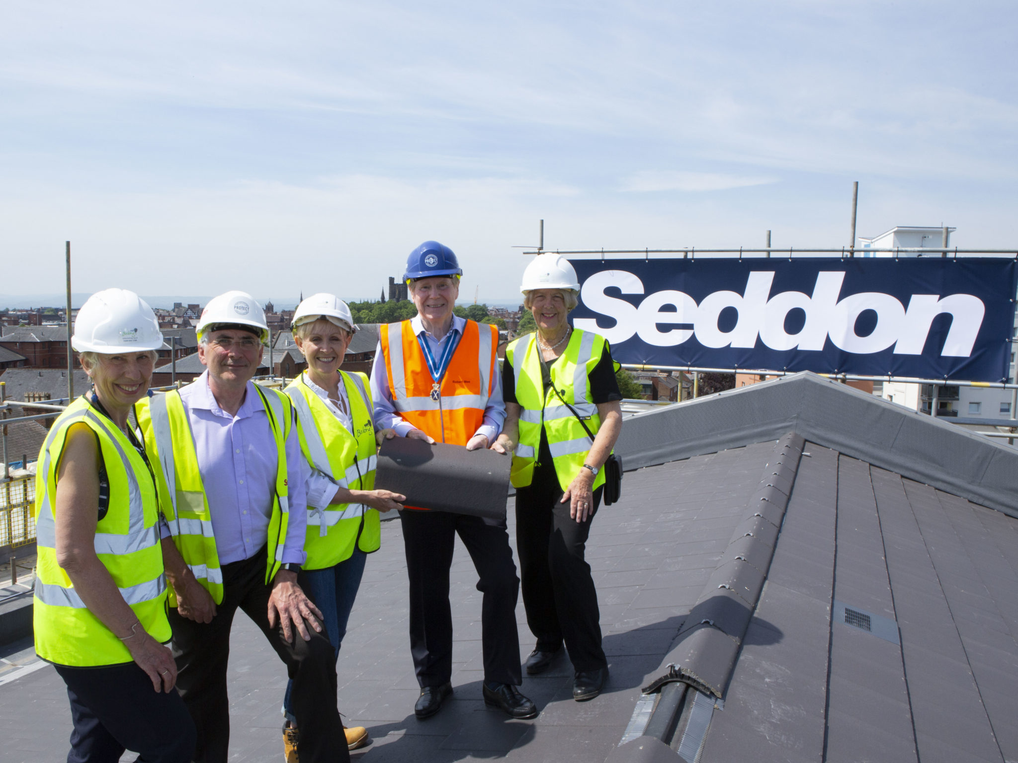 Belong Chester topping out ceremony