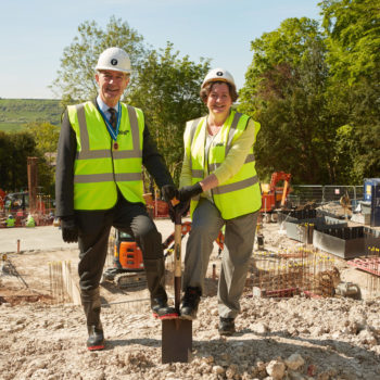 Phillip Sykes, High Sheriff of Winchester, and Marianne Wanstall, Chief Executive, Brendoncare