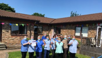 Staff celebrating Good rating – Spiers Care Home – Anavo Group_