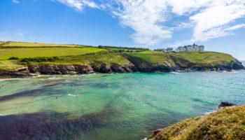 Overlooking,Poldhu,Cove,On,The,Lizard,Peninsula,Cornwall,England,Uk